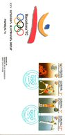 ARMENIE. N°179-82 De 1992 Sur Enveloppe 1er Jour. J.O. De Barcelone/Boxe/Haltérophilie/Gymnastique. - Verano 1992: Barcelona