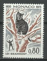 MONACO , 0.80 Fr , 125° Anniversaire De La Loi Protectrice Des Animaux , Chasse Au Chat , 1975 , N° YT 1032 , NEUF ** - Monaco