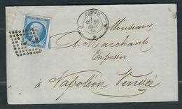 FRANCE N° 14  Obl. S/lettre Paris Bureau J - 1853-1860 Napoleone III