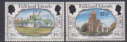 Falkland Islands 1984 Definitive Surcharges 2v ** Mnh (37824B) - Falklandeilanden