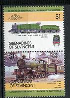 TRAINS - 1984 -  GRENADINES OF ST. VINCENT  - Mi. Nr. 295+297 -  NH -  (UP.70.39) - St.Vincent E Grenadine