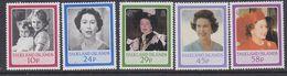 Falkland Islands 1986 Birthday Queen Elizabeth 5v ** Mnh (37824E) - Falklandeilanden