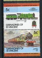 TRAINS - 1984 -  GRENADINES OF ST. VINCENT  - Mi. Nr. 326/27 -  NH -  (UP.70.39) - St.Vincent E Grenadine