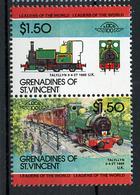TRAINS - 1984 -  GRENADINES OF ST. VINCENT  - Mi. Nr. 336/37 -  NH -  (UP.70.39) - St.Vincent E Grenadine