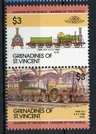 TRAINS - 1985 -  GRENADINES OF ST. VINCENT  - Mi. Nr. 369/70 -  NH -  (UP.70.39) - St.Vincent E Grenadine
