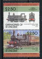 TRAINS - 1985 -  GRENADINES OF ST. VINCENT  - Mi. Nr. 407/08 -  NH -  (UP.70.39) - St.Vincent E Grenadine