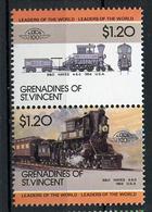 TRAINS - 1985 -  GRENADINES OF ST. VINCENT  - Mi. Nr. 431/32 -  NH -  (UP.70.39) - St.Vincent E Grenadine