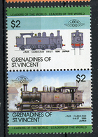 TRAINS - 1985 -  GRENADINES OF ST. VINCENT  - Mi. Nr. 433/34 -  NH -  (UP.70.39) - St.Vincent E Grenadine