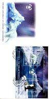 LETTONIE. BF 25 De 2009 Sur Enveloppe 1er Jour. Protection Des Zones Polaires/Ours/Manchot. - Schützen Wir Die Polarregionen Und Gletscher