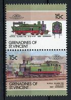 TRAINS - 1986 -  GRENADINES OF ST. VINCENT  - Mi. Nr. 458/59 -  NH -  (UP.70.40) - St.Vincent E Grenadine
