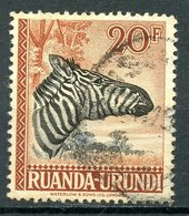 Ruanda-Urundi 1942 20f Zebra Issue #87 - Ruanda-Urundi