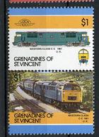 TRAINS - 1986 -  GRENADINES OF ST. VINCENT  - Mi. Nr. 466/67 -  NH -  (UP.70.40) - St.Kitts E Nevis ( 1983-...)