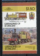 TRAINS - 1986 -  GRENADINES OF ST. VINCENT  - Mi. Nr. 468/69 -  NH -  (UP.70.40) - St.Kitts E Nevis ( 1983-...)