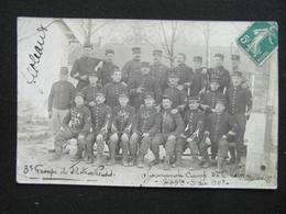 Carte Photo MILITAIRE POILUS CAMP DES CHALONS (51 CHALONS SUR MARNE) REG 249, 225 1908 3e GROUPE - Regiments