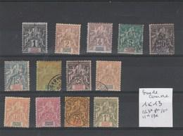 Grande Comore - Yvert  Série Sage N° 1 à 13 - Neufs Et Oblitérés - 2 Scan - Grote Komoren (1897-1912)