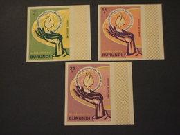 BURUNDI - P.A. 1969 DIRITTI UMANI  3 VALORI   ND- NUOVI(++) - 1962-69: Nuovi