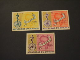 BURUNDI - 1969 O M S/SERPENTE  3 VALORI   ND- NUOVI(++) - Burundi