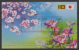Sri Lanka (2012) - Block -  /  Flowers - Fleurs - Flores - Fiori - Japan Diplomatic Relations - Altri