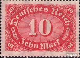 Deutsches Reich 195 Postfrisch 1921 Markwerte WZ 2 - Deutschland