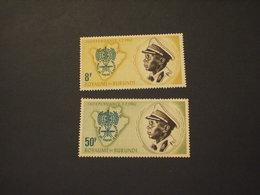 BURUNDI - 1962 MALARIA/INSETTO/SERPENTE  2 VALORI  - NUOVI(++) - 1962-69: Nuovi