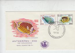 BELGIO  1968 - Zoo - Pesci - Annullo Speciale - Fische
