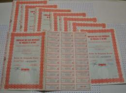 Lot De 8 Titres : Eaux Minerales De Pougues - Eau