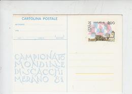 ITALIA  1981 - Cartolina - Scacchi - Campionato Mondiale - Scacchi