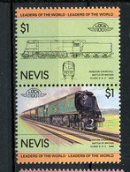 TRAINS - 1983 -  NEVIS  - Mi. Nr. 123/24 -  NH -  (UP.70.40) - St.Kitts E Nevis ( 1983-...)