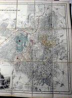 77 FONTAINEBLEAU CARTE DE LA FORET EN 1856 AVEC CIRCUIT PROMENADES SITES ET CURIOSITES ET FORT DE L'EMPEREUR - Cartes Topographiques