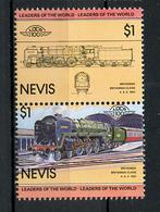 TRAINS - 1983 -  NEVIS  - Mi. Nr. 127/28 -  NH -  (UP.70.40) - St.Kitts E Nevis ( 1983-...)