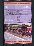 TRAINS - 1983 -  NEVIS  - Mi. Nr. 129/30 -  NH -  (UP.70.40) - St.Kitts E Nevis ( 1983-...)