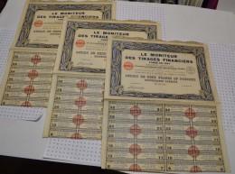 Lot De 3 Titres : Le Moniteur Des Tirages Financiers - Industrie