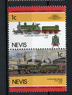 TRAINS - 1985 -  NEVIS  - Mi. Nr. 260/61 -  NH -  (UP.70.40) - St.Kitts E Nevis ( 1983-...)