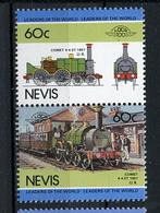TRAINS - 1985 -  NEVIS  - Mi. Nr. 262/63 -  NH -  (UP.70.40) - St.Kitts E Nevis ( 1983-...)