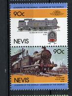 TRAINS - 1985 -  NEVIS  - Mi. Nr. 264/65 -  NH -  (UP.70.40) - St.Kitts E Nevis ( 1983-...)