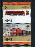 TRAINS - 1984 -  NEVIS  - Mi. Nr. 202/03 -  NH -  (UP.70.40) - St.Kitts E Nevis ( 1983-...)