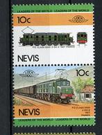 TRAINS - 1984 -  NEVIS  - Mi. Nr. 204/05 -  NH -  (UP.70.40) - St.Kitts E Nevis ( 1983-...)