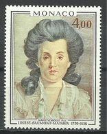 MONACO , 4 Frs , Princesse Louise D'Aumont Mazarin , 1976 , N° YT 1066 , NEUF ** - Monaco