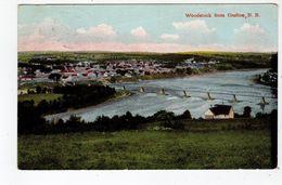 WOODSTOCK, New Brunswick, Canada, View From GRAFTON, 1908 Nerlich Postcard, S/R Victoria NB - Nouveau-Brunswick
