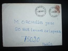 LETTRE TP 120F OBL.15 JUIL 1992 POINTE-NOIRE C.T.M.T. CONGO - Oblitérés