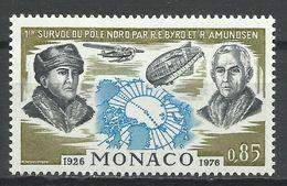 MONACO , 0.85 Fr , 50° Anniversaire Des Premiers Vols Au-dessus Du Pôle Nord , 1976 , N° YT 1070 , NEUF ** - Monaco