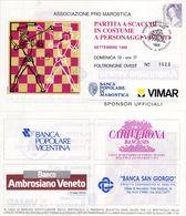 Marostica  (VI) 1998 - Partita A Scacchi In Costume A Personaggi Viventi - - Tickets D'entrée