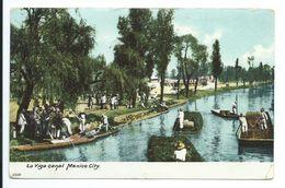 Mexico City - La Viga Canal - Undivided Back - Mexico