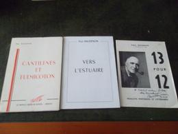LOT DE 5 LIVRES DE PAUL BAUDENON  BRIQUE A BRIQUE / LES CHAIRS OBSTINEES ..... - Books, Magazines, Comics