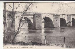 Cp , 78 , MANTES , Le Vieux Pont De Limay - Mantes La Jolie