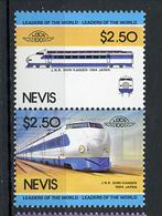 TRAINS - 1984 -  NEVIS  - Mi. Nr. 208/09 -  NH -  (UP.70.40) - St.Kitts E Nevis ( 1983-...)