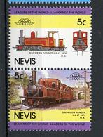 TRAINS - 1984 -  NEVIS  - Mi. Nr. 280/81 -  NH -  (UP.70.40) - St.Kitts E Nevis ( 1983-...)