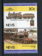 TRAINS - 1984 -  NEVIS  - Mi. Nr. 282/83 -  NH -  (UP.70.40) - St.Kitts E Nevis ( 1983-...)