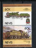 TRAINS - 1984 -  NEVIS  - Mi. Nr. 284/85 -  NH -  (UP.70.40) - St.Kitts E Nevis ( 1983-...)