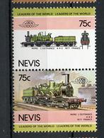 TRAINS - 1984 -  NEVIS  - Mi. Nr. 286/87 -  NH -  (UP.70.40) - St.Kitts E Nevis ( 1983-...)